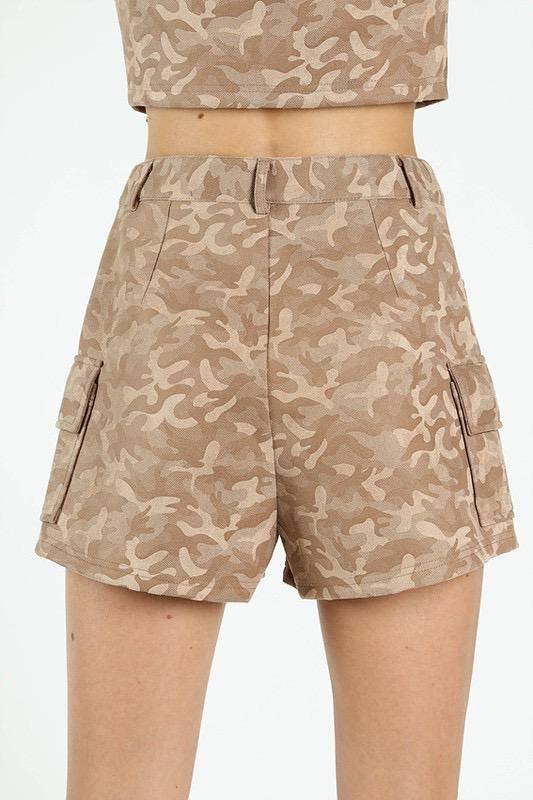 shorts High Waisted Camo Shorts