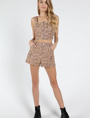 shorts High Waisted Camo Shorts
