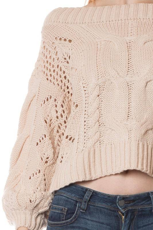 sweaters Cable knit drop shoulder Sweater