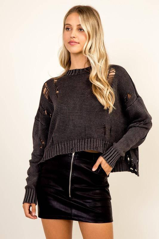 sweaters Olivia Distressed Sweater