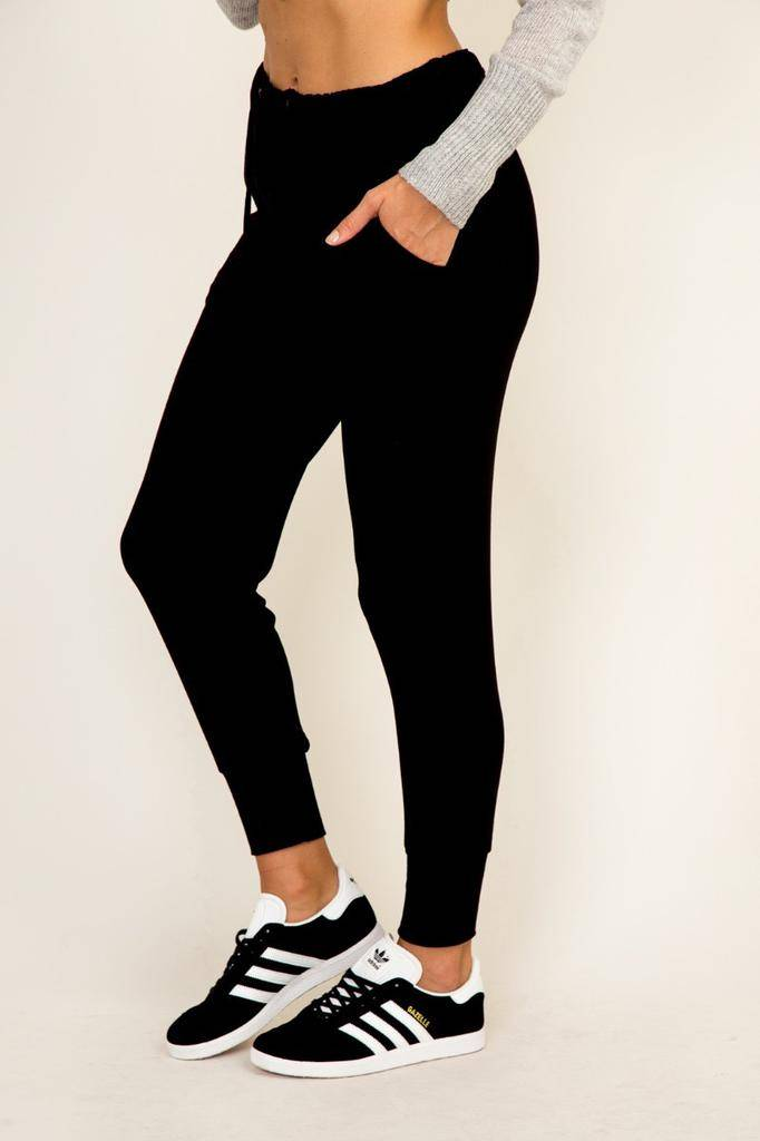 Bottoms Ribbed Knit Joggers