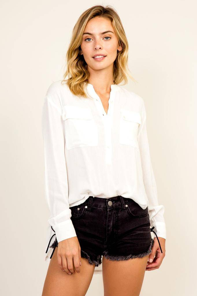 Shirt Button-Up Long Sleeve Shirt