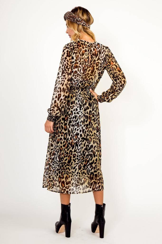 dresses Leopard Midi Dress