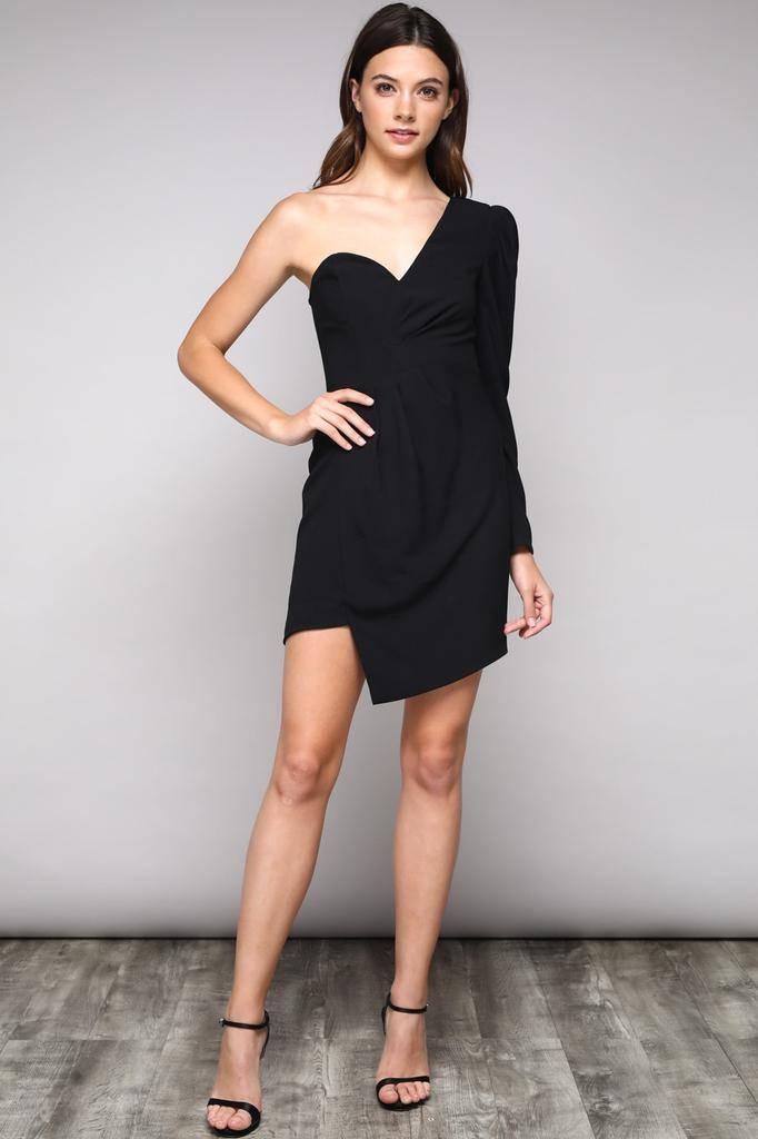 dresses One Shoulder Asymetric Dress