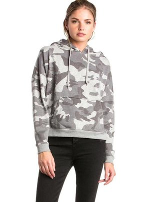 sweaters Camo Knit Hoodie