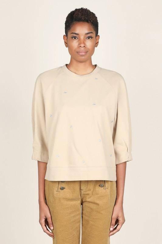sweaters Star Embroidered Sweatshirt