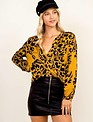 tops Animal Print L/s Blouse