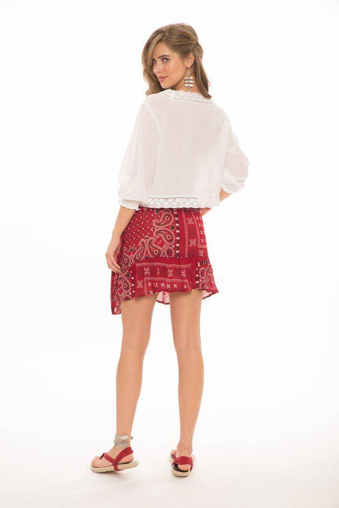 Skirt Briana Short Wrap Skirt