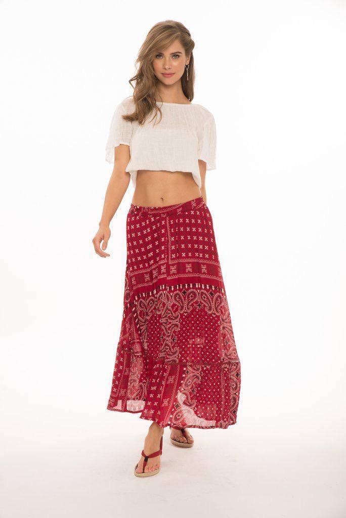 Skirt Briana Long Boho Skirt