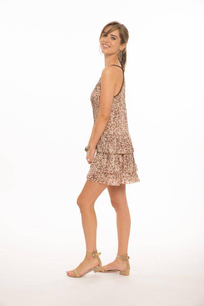 dresses Gatha Plunge Neckline Ruffle Dress