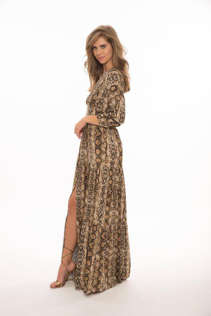 maxi Blase Tiered V- Neck Maxi Dress