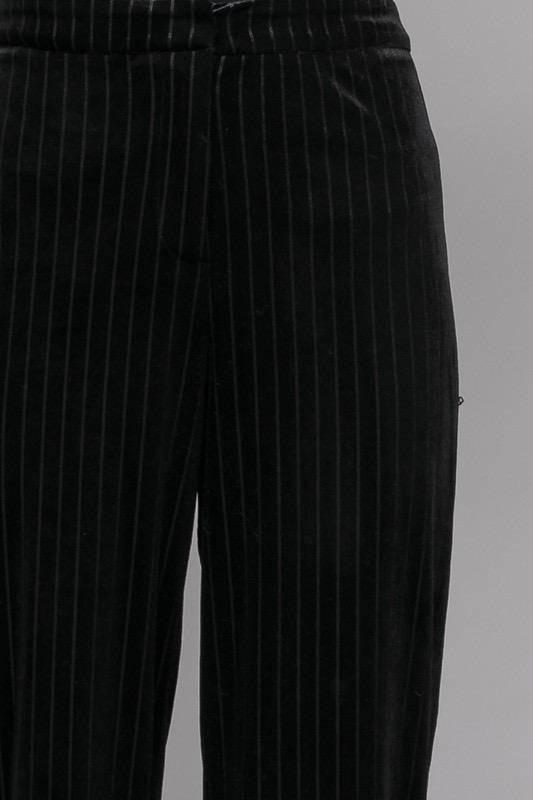 Bottoms Stripe Velvet Palazzo Pants