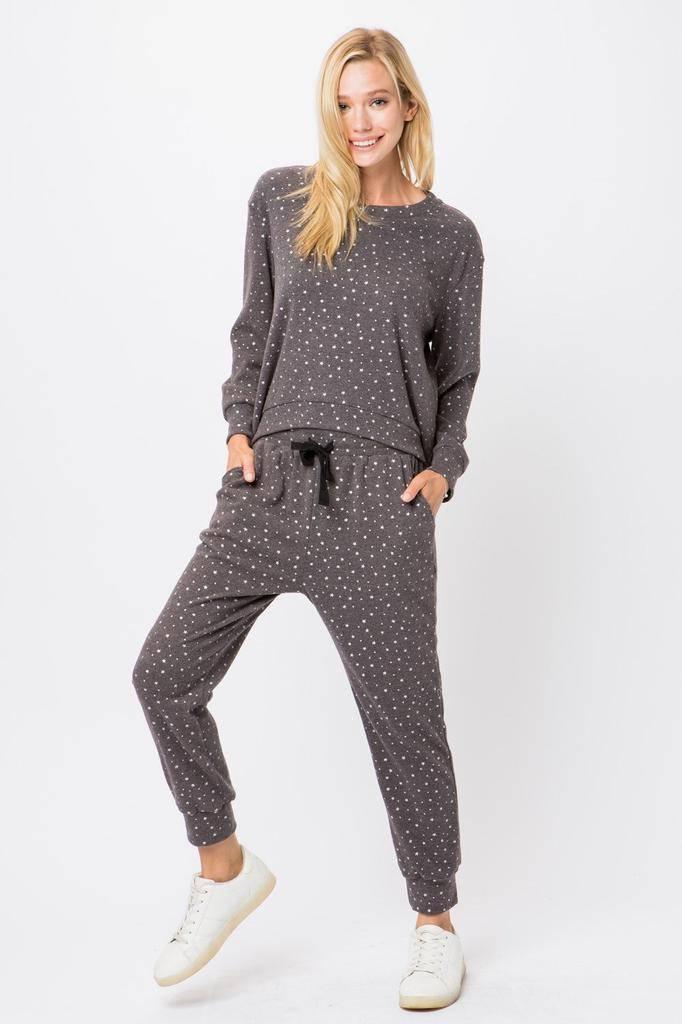 tops Star Knit Sweatshirt