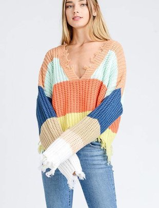 sweaters Drop Shoulder Crop Sweater