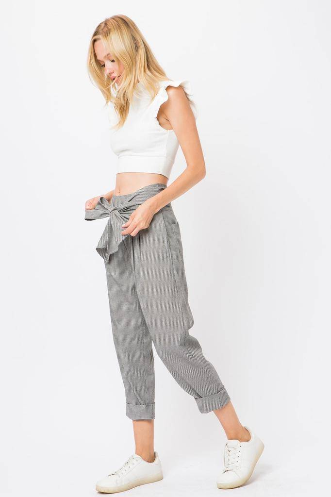 Bottoms Holly Knot Front Belted Pant
