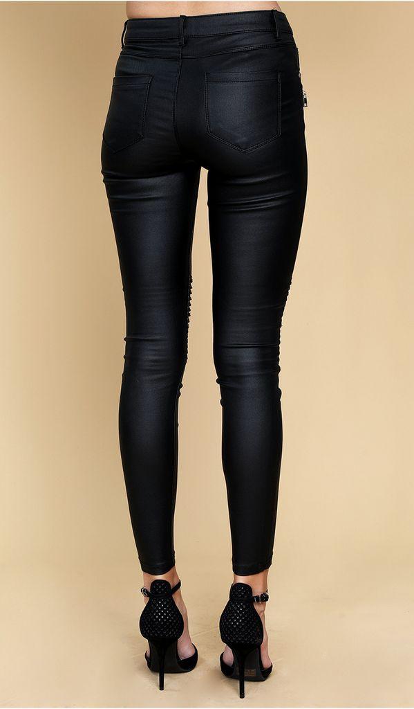 Bottoms Faux Leather zipper detail Pants