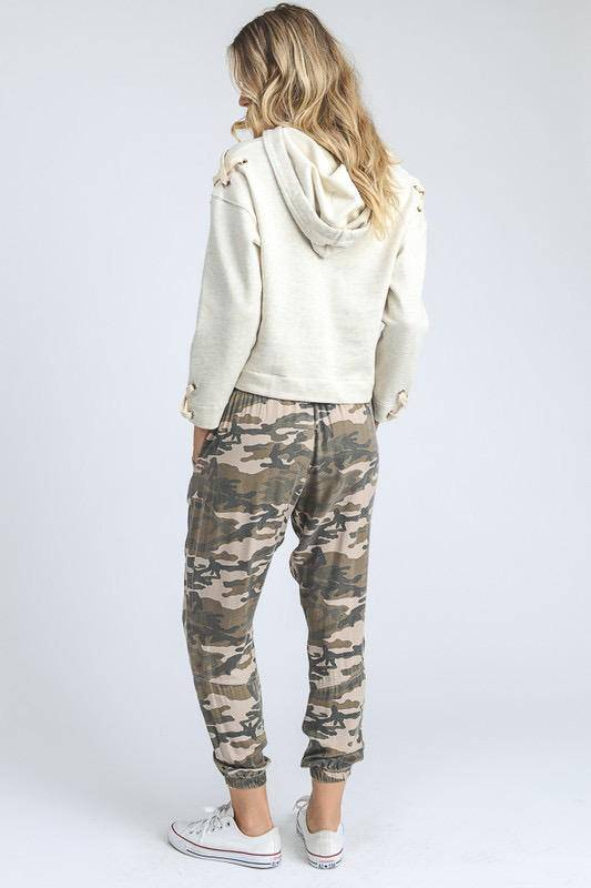 Bottoms High Waist Jogger Camo Pants