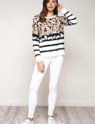 sweaters Leopard Knitted Sweater