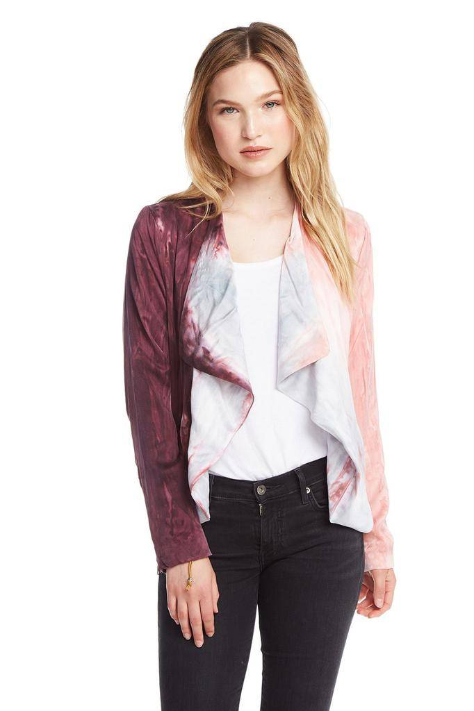 jackets Open Front Collarless Jacket