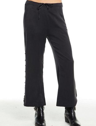 Bottoms Button Side Drawstring Trouser