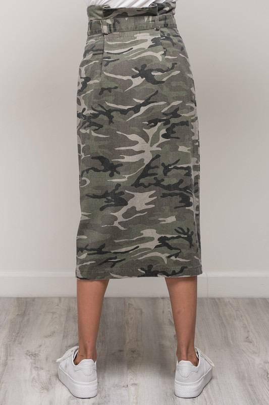 Skirt Camo Long Skirt