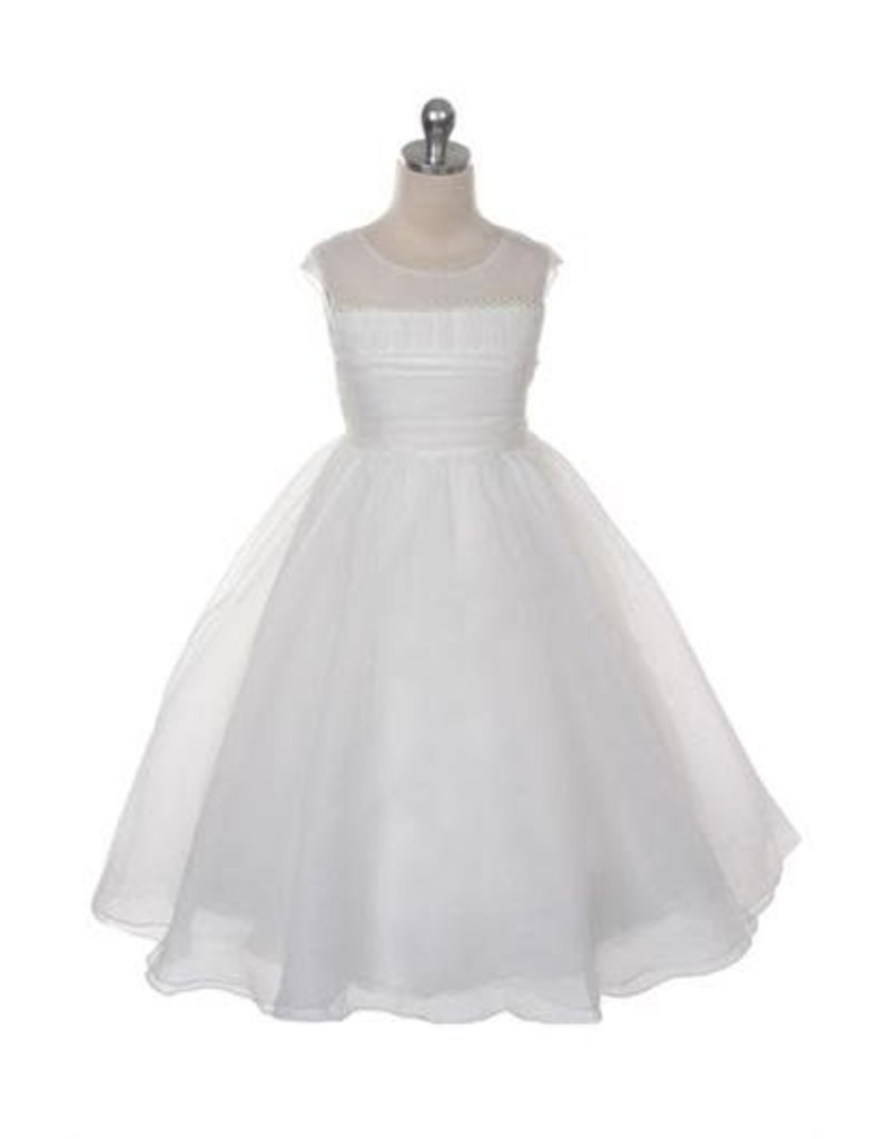 Dress, Organza, Pearl Bodice