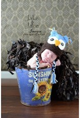 Hat, Aiden, Crocheted Owl