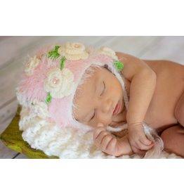 Hat, Nahla, Crocheted w/Delicate Flowers