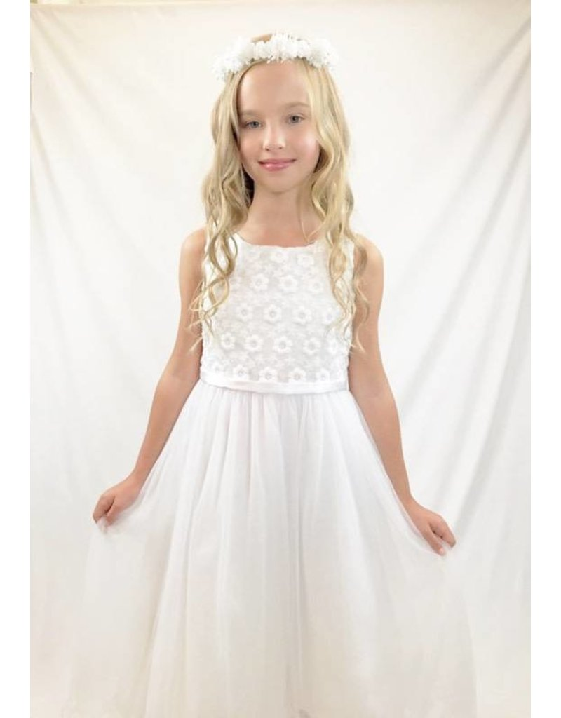 Dress, Embroidered Bodice, Tulle