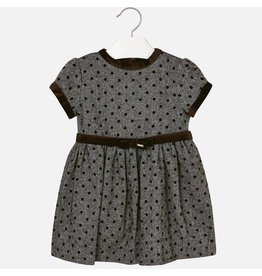 Dress, Contrasting Dots & Trim