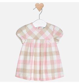 Dress, Plaid, Pink