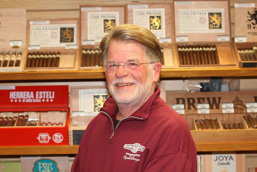 Dave Mayer owner of Wooden Indian Tobacco Shop in Havertown PA