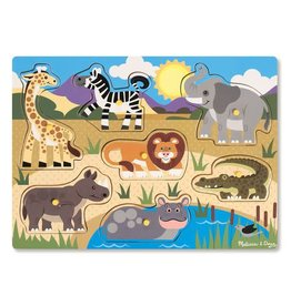 Melissa & Doug Wooden Peg Puzzle- Safari