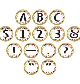 Confetti Circle Letters