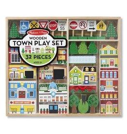 Melissa & Doug Wooden Town Playset
