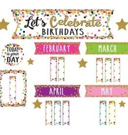 Confetti Confetti Let's Celebrate Birthdays Mini Bulletin Board