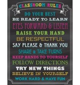 Chalkboard Brights Chalkboard Brights Classroom Rules Chart