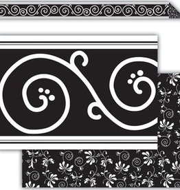 Black Decor Double Sided Border