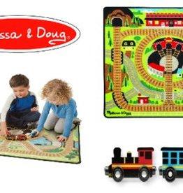 Melissa & Doug Around the Rails Train Rug