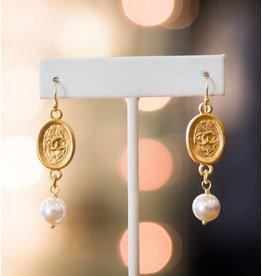 Catherine Page Jewelry Chanel Pearl Tag Earring