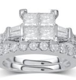 Diamonds Lady's Wedding Sets 1.82ctw 14KT White Gold