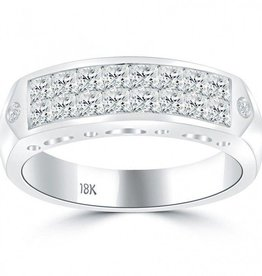 Diamond Men's Band 1.97 ctw Princess cut 14K White Gold