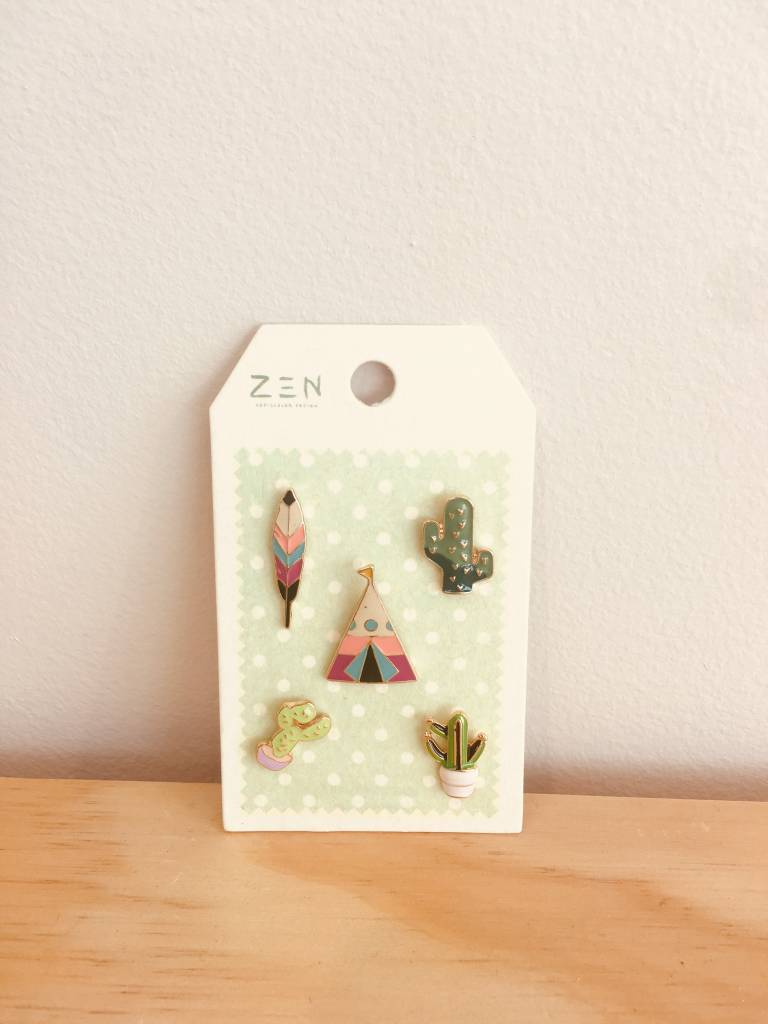 Accessories Now Cacti Flare Pins