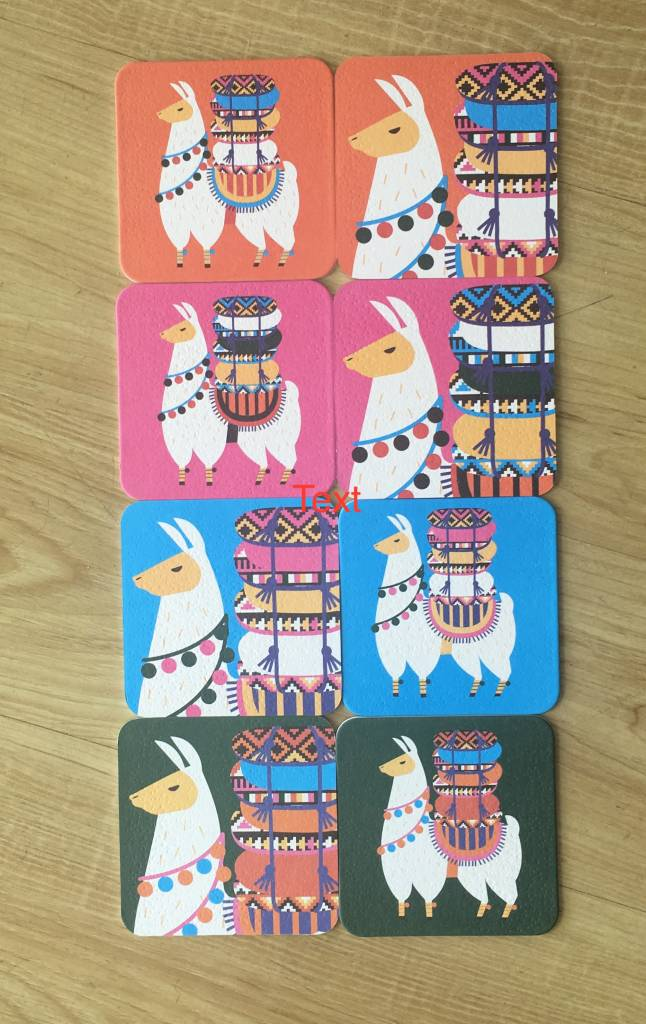 Streamline Llama Coasters