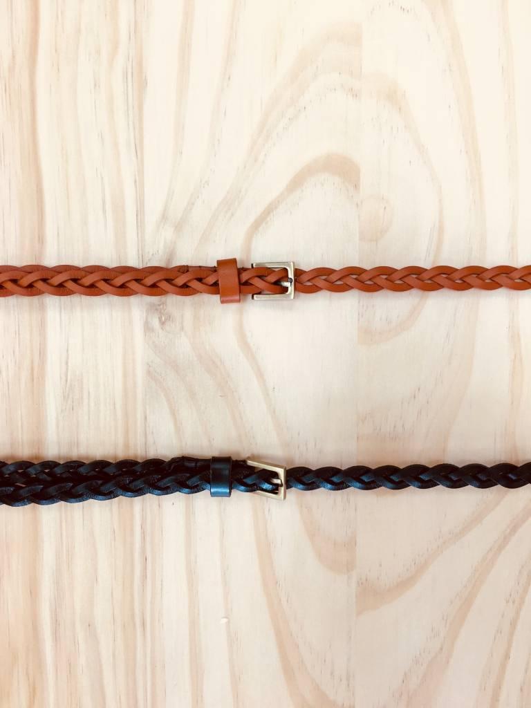 Annabelle Braided Leather Belt