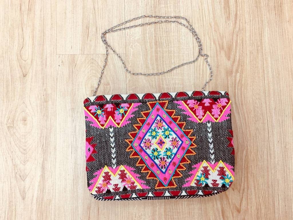 America and Beyond Mexican Fiesta Embellished Clutch