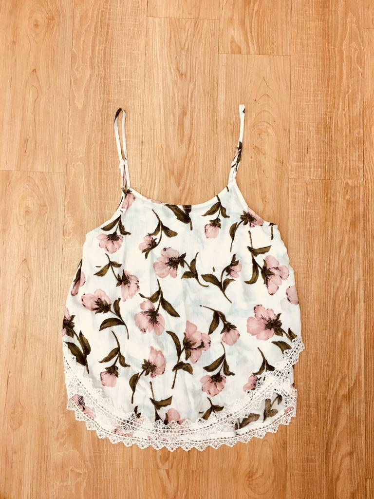Staccato Floral Lace Tank