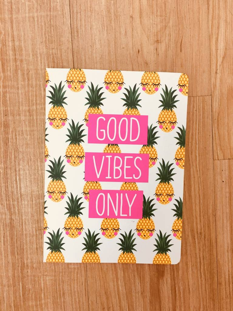 Graphique Good Vibes Only Journal
