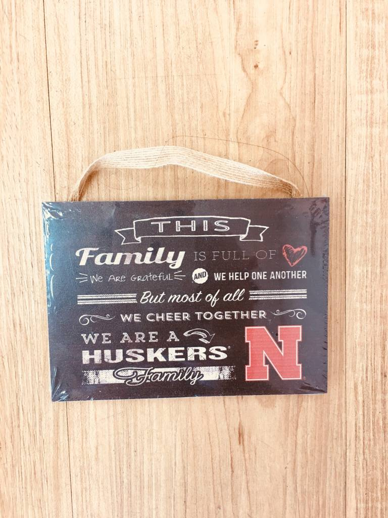 KH Sports Huskers  Family Sign