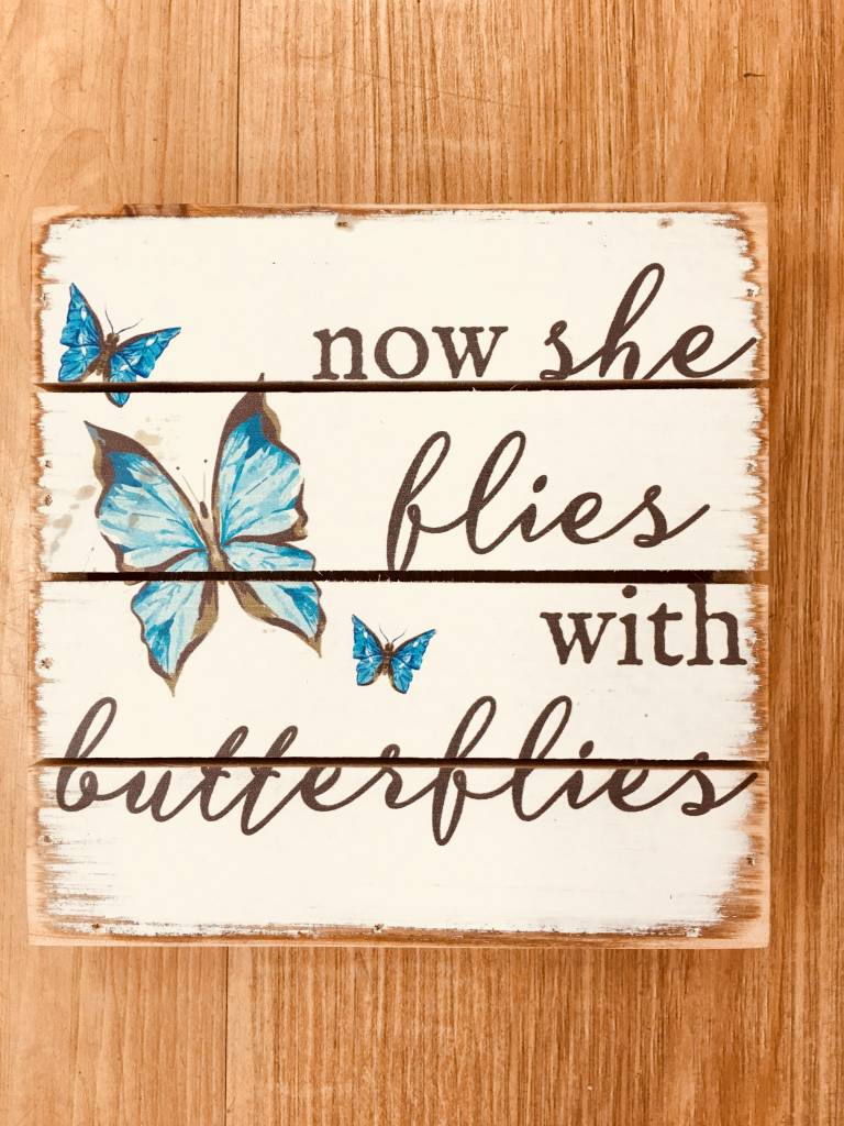 Sincere Surroundings She Flies With Butterflies